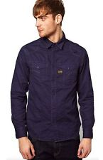 G Star Raw MD ROCK Shirt L/S in Police Blue Alpine Twill, Size XXL, BNWT $170