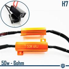 X2 Filtri RESISTENZE Corazzate CANBUS 50W-6 OHM per Lampade Led H7 SPEGNI SPIA