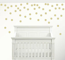 Set of 50 Gold Circle Confetti Polka Dot Wall Decal Metallic Vinyl Decor New