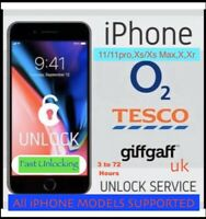 O2 Tesco Giffgaff✅iPhone 11/11pro,Xs/XS Max,XR,X,8,7 To 3GS✅Fast UNLOCKING✅