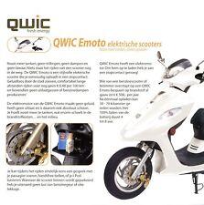 QWIC Emoto 80B Elektroroller Prospekt NL 2008 brochure Elektroscooter prospectus
