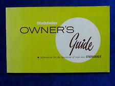 Studebaker Skybolt Thunderbolt V8 - Owner's Guide operation manual 09.1964 USA