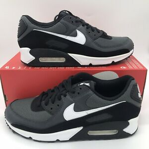 New Nike Air Max 90 Essential Men Size Shoes Black/Grey CN8490 002 FREE SHIPPING