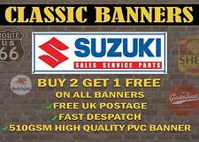Classic Suzuki Sales Service Parts Retro Style Banner for Garage / Sign