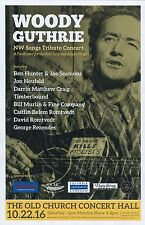 WOODY GUTHRIE Tribute 2016 Gig POSTER Portland Oregon NW Songs Concert