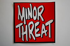 "Minor Threat Sticker Decal Car Window Punk Rock Music Adicts Ipad 4""X4"" (80)"