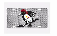 Pittsburgh Fan Sport Teams Front License Plate Combined Logo Mashup Decorative