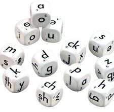 Dice Alphabet 6 Face Lowercase 22mm (12 dice per set) Classroom Resource