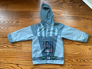 MINT Western Chief Star Wars Darth Vader Fleece Lined Insulated Raincoat Size 4T