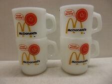 4 FIRE-KING MCDONALDS GOOD MORNING MUGS CUPS