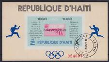 Haiti Block 37, Olympiade Mexiko 1968, gest., olympic games, used