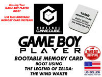 GameCube Gameboy Player Memory Card For Game Boy Disc Replacement No Mod Needed!