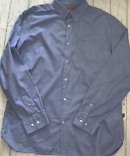 "Banana Republic Heritage Blue White Fleck Cotton Shirt XL 17-17.5"" Collar"