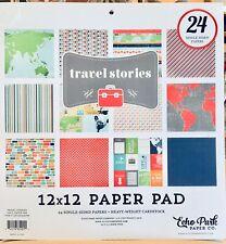 12 x 12 Echo Park Travel Stories Vacation Trip Airplane RV Scrapbook Paper Pad