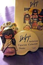 Goebel Degrazia Flower Girl Plaque, Dealer Authorized Figurine Collection Signe