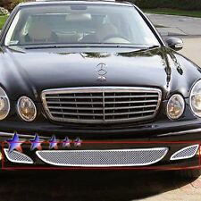Mercedes-Benz E350 2006 APG GR26GEE18T 3-Pc Chrome 1.8mm Wire Mesh Bumper Grille