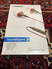 BOSE SOUNDSPORT IN EAR HEADPHONES RED BRAND NEW SEALED