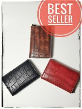 Credit Card holder RFID Aluminum Blocking Genuine Leather wallet