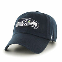 Seattle Seahawks 47 Brand Clean Up MVP Adjustable On Field Cotton Hat Cap NFL