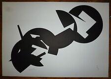 Charles Rollier Lithographie 1964 signée numérotée abstraction art abstrait