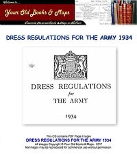DRESS REGULATIONS FOR THE ARMY 1934 CDROM