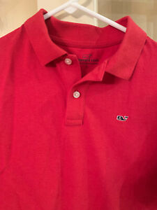 Vineyard Vines Boys' Short-Sleeve Polo Shirt, Red, Size L (16)
