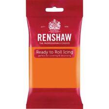 Renshaw Ready To Roll Icing Fondant Cake Regalice Sugarpaste 250g TIGER ORANGE