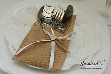 Wedding Hessian Burlap Cutlery Holders Table Set Up Centerpiece Party Supplies