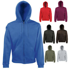 FRUIT OF THE LOOM PREMIUM ZIP HOODED SWEATSHIRT HOODIE SSE16