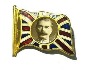 RARE BOER WAR OFFICERS LORD KITCHENER FLAG METAL MADE ENAMEL SOUVENIR BADGE