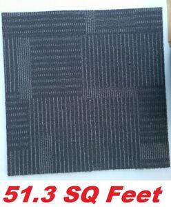 EURO Carpet Tile Squares Commercial Square 19.75 x 19.75 Floor Tiles, 51.3 SQ Ft