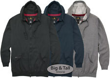 Falcon Bay Big & Tall Full Zip Fleece Hoodie 2XL - 8XL 2XLT - 6XLT Medium Weight