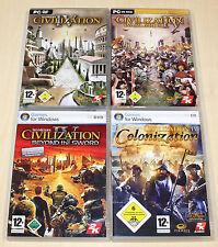 4 pc jeux collection, Civilization IV 4 colonization Beyond the sword seigneurs de guerre