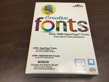 BRAND NEW summitsoft Creative fonts - Over 3000 OpenType Fonts SEALED