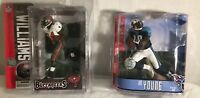 NFL Series  Cadillac Williamsa and Vince young  action figures/NEW CONDITION