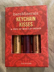 bareMinerals KEYCHAIN KISSES 3-pc SET Mini Lip Treats *Limited Edition *NEW