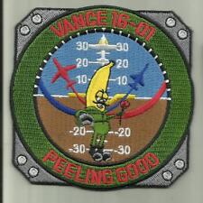 VANCE AFB CLASS 16-01 USAF PATCH AIRCRAFT PILOT CREW AVIATION SOLDIER USA FLY