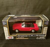 1964 1/2  Ford Mustang Diecast Model 1:43 Scale MotorMax, American Classics