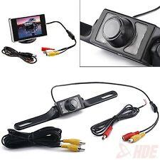 "3.5"" LCD Car Monitor+ Rear View LED Back Up License Plate Camera Waterproof TFT"