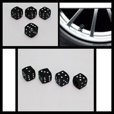 Black Dice Tire Wheel Air Stem Valve Caps car Truck Bike ATV US 4pcs Universal