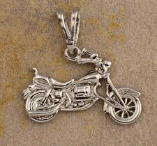 BRAND NEW .925 STERLING HARLEY SOFTAIL MOTORCYCLE BIKER PENDANT
