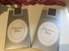 CHRISTIAN DIOR VINTAGE DIORELLA ULTRA 15 DENIER TIGHTS SAGE X 2