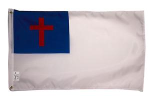 3x5FT Christian Flag Christianity Cross Banner Church Pennant Jesus Faith Gift