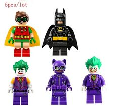 5 Pcs Mini Figures (code 76) NEW UK Seller Fits Lego Batman Robin Joker Catwoman