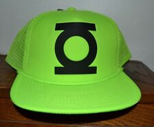 Green Lantern Neon Trucker Style Adjustable Hat Cap Licensed DC Merchandise