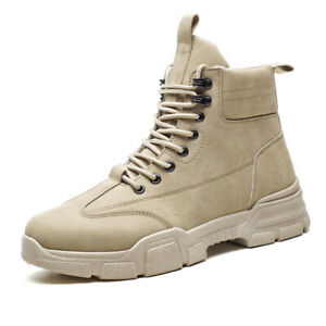 Men's outdoor high-top tooling Martin boots military boots casual desert shoes