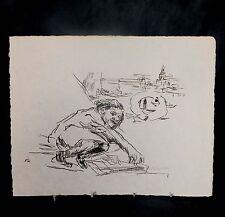 Rare originale signée (à la main) Limited Ed. Oskar Kokoschka Folio lithographiques
