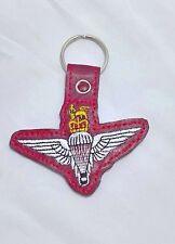 parachute regiment key ring, para reg gifts, parachute regiment cap badge keyfob