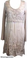 Made in Italy - goITT193 BG - Flattering lace dress - Cream Beige