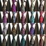 Classic Mens Stripe Paisley Floral Checks Necktie JACQUARD WOVEN 100% Silk Tie/G